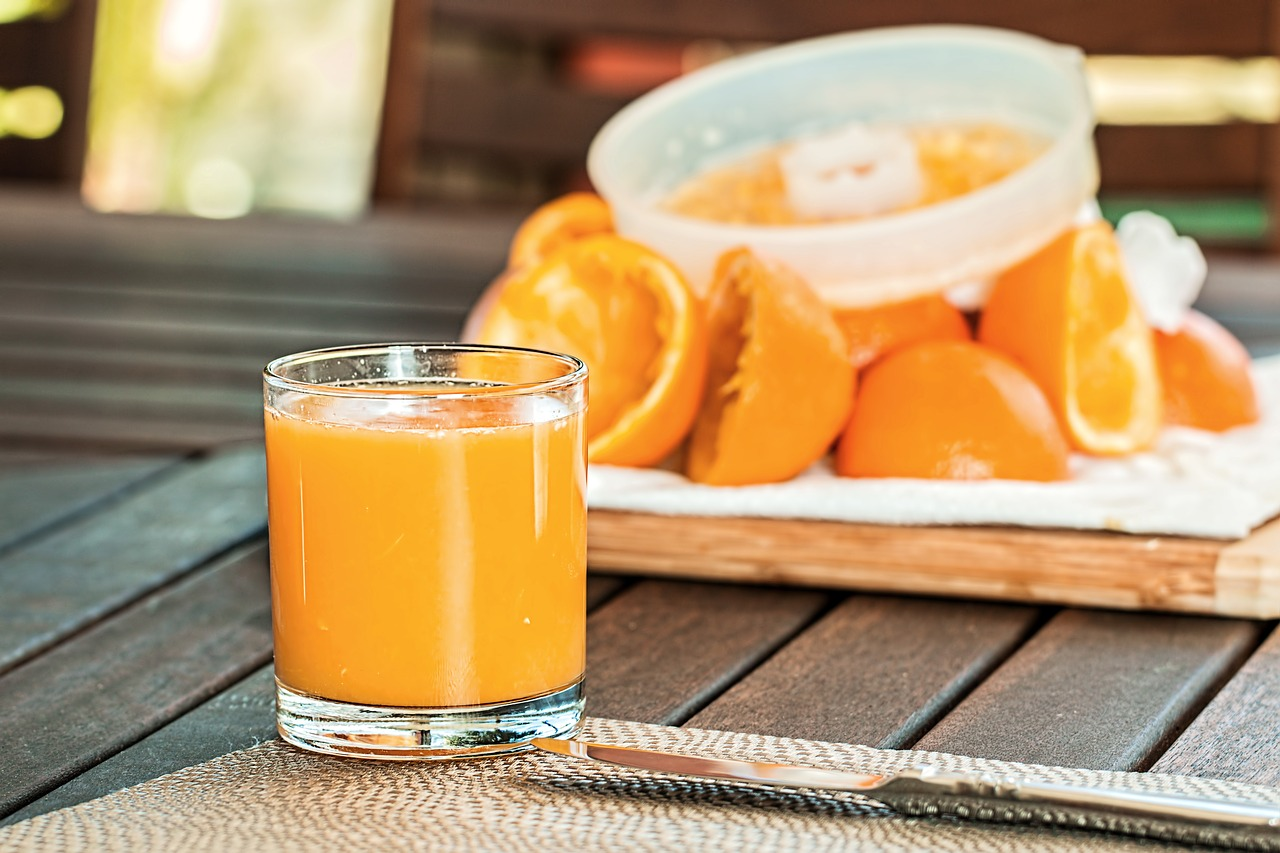 spremuta di arance con aloe