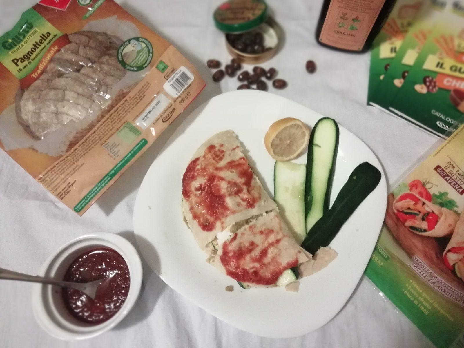 piadina senza glutine con zucchine