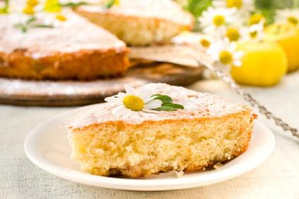 torta margherita con aloe vera