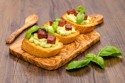 bruschette con avocado