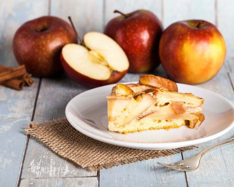 torta di mele e aloe vera
